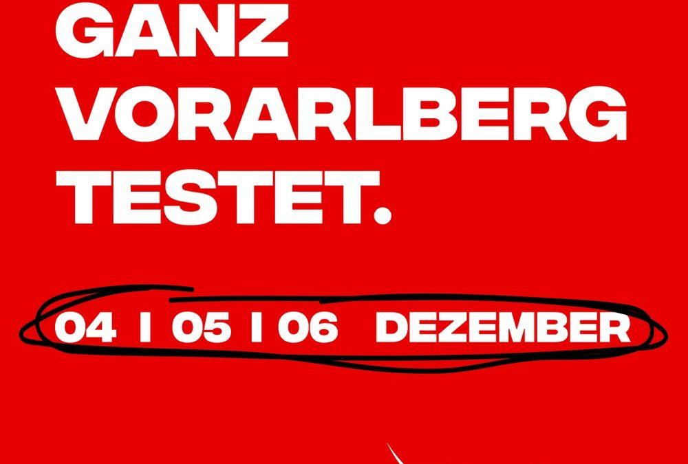 Ganz Vorarlberg testet