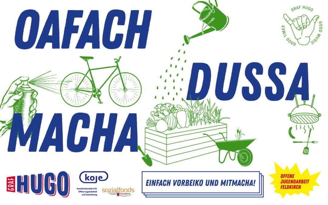 """Unser Jugendsozialarbeitsprojekt 2021 – """"Oafach dussa macha"""""""